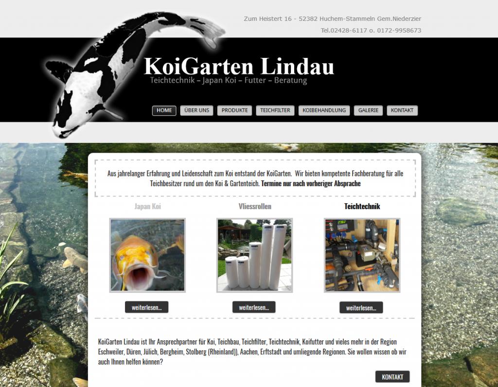 Homepage für Koihandel